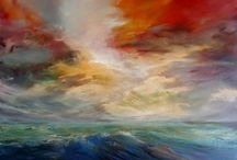 Various artists- Expressive seascape paintings / Contemporary Paintings that capture the movement, light and atmosphere of the sea.