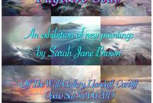 'Fugitive Seas' 2015 / Seascape paintings by Sarah Jane Brown. A series of new work for October 2015 exhibition in Cardiff. All the paintings are oil on canvas.
