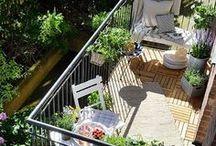 Balcony design and gardening