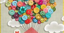 For the button addict / I just LOVE buttons, don't you?!  This is a collection of yummy buttons to inspire you to create your own button happiness!