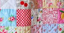 Patchwork Quilts / There is just something about patchwork quilts that delight me every time I see one.  The mix of fabrics with pretty colours and patterns are always amazing.