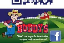 Buddy's Social Pages / Download a free QR reader app and scan to find our Buddy's Farm Fresh Fruit social pages!