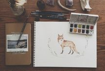 Sketch Books / A collection of inspiring sketchbook pages including beautiful moleskines and watercolours