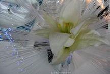 décoration mariage bleu et argent / thème bleu et argent