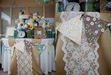 décoration mariage avec de la toile de jute ou  papier kraft / décoration mariage toile de jute et papier kraft