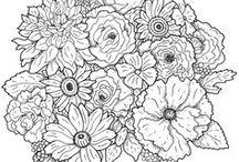 PERGAMANO FLEURS Patrons / Sur le thème des fleurs, modèles et patrons. FLOWERS THEME, patterns and creations Pergamano