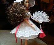 PERGAMANO ROBES POUPÉES / Thème des robes pour poupée Barbie,  robes et accessoires pour poupées. Dresses for Barbie dolls, Creations