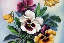PENSEES Images / Sur le thème des pensées et des violettes, modèles et patrons. Pansies, violettes theme, Patterns and creations Pergamano