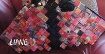 SACS PAPIER RECYCLÉ / Sacs de papier tressé recyclé Wrapper purses