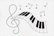 PERGAMANO MUSIQUE patrons / Thème de la musique, pour le pergamano Music theme,patterns and creations