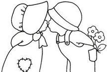 PERGAMANO BONNET patrons / Pergamano modèles bonnet-girls, sunbonnets