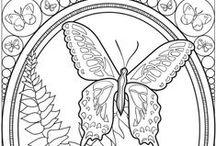 PERGAMANO PAPILLONS patrons / Papillons, butterflies pour réalisations Pergamano