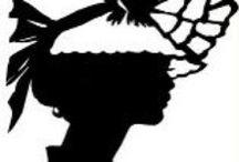 PERGAMANO FEMMES SILHOUETTES / Silhouettes de Femmes pour la réalisation de cartes en Pergamano