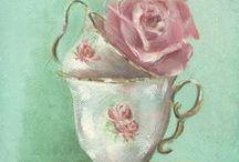 THE/CAFE  Images / Rien de meilleur qu'un bon café dans une jolie tasse........Coffee or Tea? Illustrations pour le pergamano