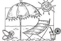 PERGAMANO MER Patrons / Patrons pour le Pergamano sur le thème de la mer, des vacances