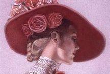 FEMMES (Sue HALSTENBERG) / Portraits de femmes Collection de Sue Halstenberg, pour les cartes de Pergamano
