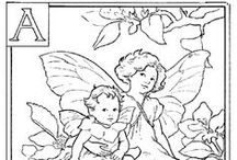 PERGAMANO FAIRIES Alpha patrons / Alphabets enchantés, fairies, elfes et autres personnages merveilleux