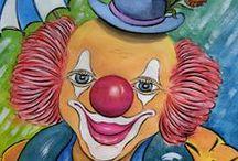 CLOWNS CIRQUE Images / Les clowns pour les Petits et les Grands. Les clowns, beaux sujets pour la carterie.