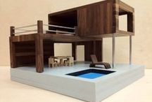 Modern Dollhouses / The sleek lines of modern architecture, but smaller.