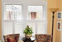 Shutters Custom Made Beautiful / For a bold but traditional look in window coverings, choose interior shutters.  For a Modern, Contemporary, Eclectic, or Transitional look, consider color and removing tilt-bar for a clear view.