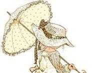 ENFANTS SUNBONNET Images / Sunbonnets illustrations pour le Pergamano