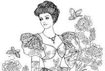 PERGAMANO FEMMES Patrons / Modèles de femmes pour le Pergamano