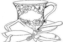 PERGAMANO THE/CAFE Patrons / Modèles thé ou café pour le Pergamano