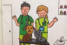 II CONCURS DIBUIX - 2015 / Concurs de dibuix infantil i juvenil. Lema: 'La meva mascota i el veterinari'