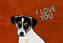 CHIENS illustrations / Chiens, dogs,