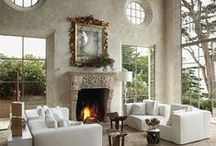 Hearth And Home / Snuggle By The Fire. Fireplaces / by Raven M