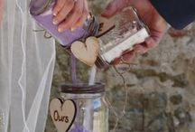 Wedding Ceremony elements by Wedding Celebrant in France, Weddings Words & Wishes. / Our 'Petite ceremonies' which can be incorporated into your main ceremony. Lavender confetti cones we can provide for your wedding ceremony.