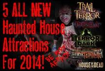 Haunted House Attractions 2014 / 5 Huge Haunted Houses at 1 Location… Over 2 Miles Of ALL NEW Haunted House & Haunted Trail Attractions For 2014! Pure Terror Scream Park is voted one of the scariest haunted house scream parks in America by Hauntworld.com. 5 ALL NEW Attractions for the 2014 Season including a Haunted Trail!
