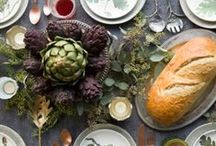 The Fall & Thanksgiving Table / Discover beautiful ways to decorate for the season. Use natural elements to set an inviting table - gourds, stems, leaves, twigs, cones, berries and more.