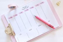 365 Days of Planners & Printables / Planners and organizing plus free Printables