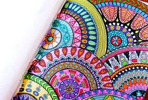 365 Days of Coloring / Mandala designs to color or get inspiration with Mandalas Paisleys and Zentangle