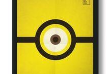 Infantis / Quadros minimalistas de filmes Infantis