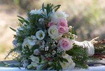 Bridal Bouquets, Button Holes and Floral Crowns - from Weddings Words & Wishes Celebrant in France. / Colourful wedding flowers to suit all themes, especially French weddings