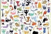 cat´s world... / Wszystko co moze byc zwiazne z tymi boskimi stworzeniami: rysunki, sztuka, przedmioty / Todo lo que puede estar relacionado con estas criaturas divinas: arte, dibujos, objetos... / by Elus Pelus