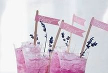 drinks and decorations for party