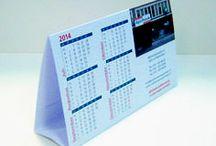 Kalenders / Allerlei soorten kalenders, verschillende maten en vormen