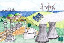 Energiewende / Energiewende? Wie war das nochmal? Hier findet ihr Fotos und Zeichnungen zum Thema.