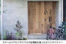 東京組|小さな庭と植木棚のある家 / 小さな庭と植木棚のある家