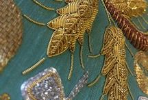 Vintage Beadwork / gold embroidery