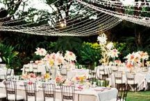 Beautiful Garden Weddings / Here are some amazing ideas to make your big day special and beautiful when you're holding it in your own lovely garden!