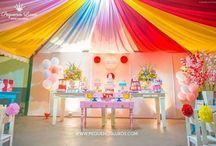 Festas infantis / Kids parties / Decorações personalizadas com identidade visual exclusiva que fizemos para festas de aniversário infantis. Pequenos Luxos - www.pequenosluxos.com