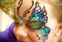 Butterfly face paints.
