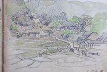 Japanese Sketchbook / Sketches and illustrations from vintage sketchbooks from Japan circa 1900.