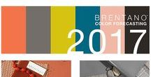 Brentano's Annual Color Forecast: 2017 / Brentano's eighth annual color forecast presents three new captivating colors (Coral, Chartreuse and Bloom), a powerful colorless shade (Almost Black) and reintroduces classic hues (Peacock and Elephant) that will dictate the future of design.