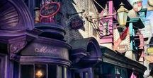 Diagon Alley / Diagon Alley was the first magical place that Harry Potter visited after learning that he was a wizard.