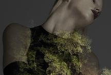 """SPRING SUMMER 2013 / """"LIGHT IN THE DARK"""" Photo: SEBASTIEN BONIN / Make up: FLORENCE SAMAIN / Model: MILENA WALTER / Art director: PIERRE DARAS"""
